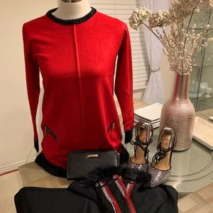 ModeLia RED and BLACK Sweater Top